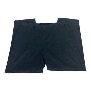 Savane Men's Flat Front Dress Pants Blue Size 36